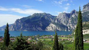 Beautiful view of Lake Garda in Lombardy, Italy