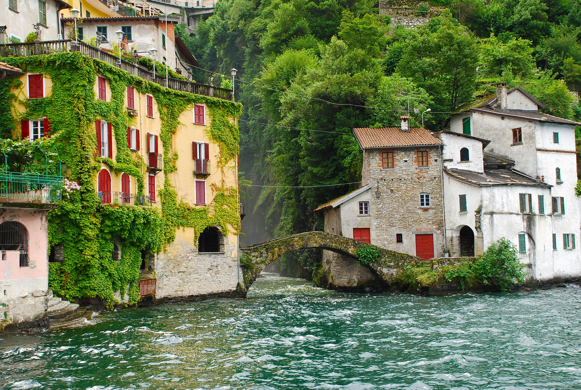 Charming view on Lake Como, in Northern Italy's Lombardy