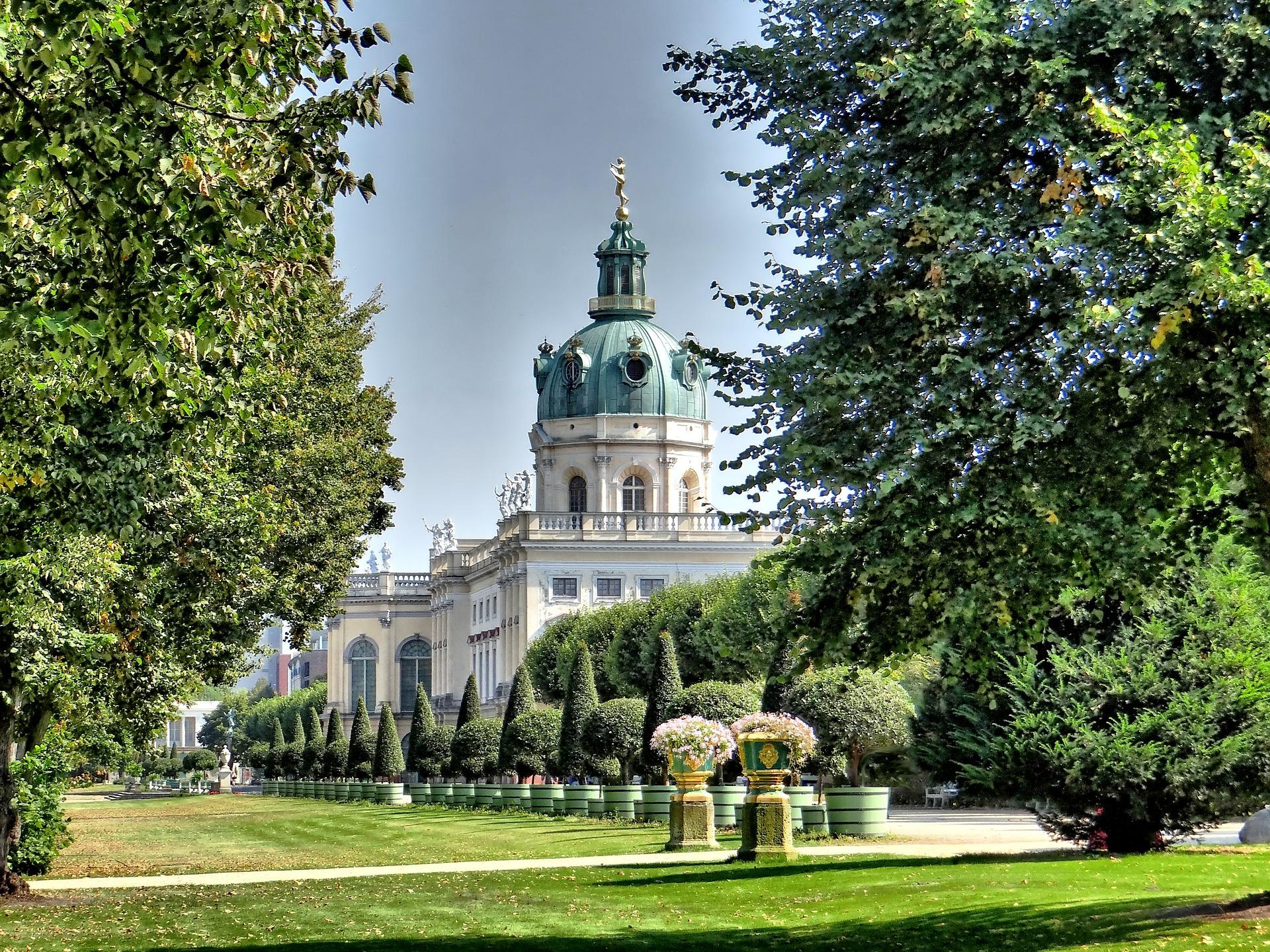 Beautiful view on Charlottenburg Palace - Berlin, Germany