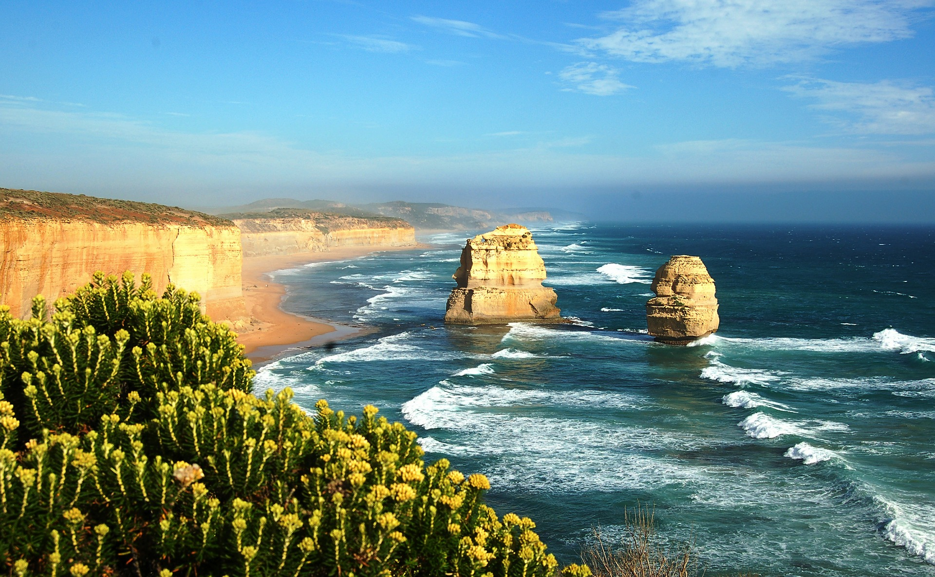 Top view on Great Ocean Road, Australia