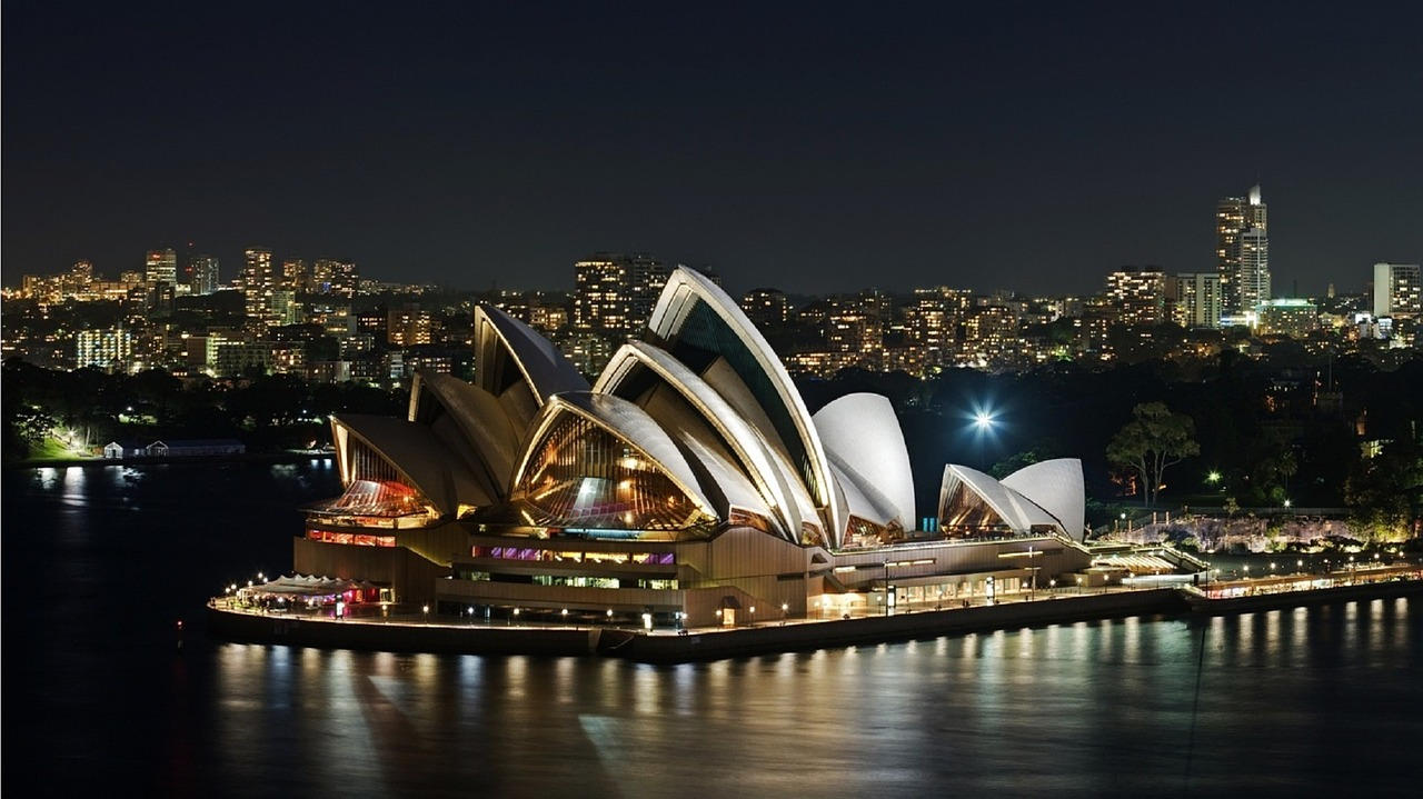 Top view on Sydney Opera House, Australia