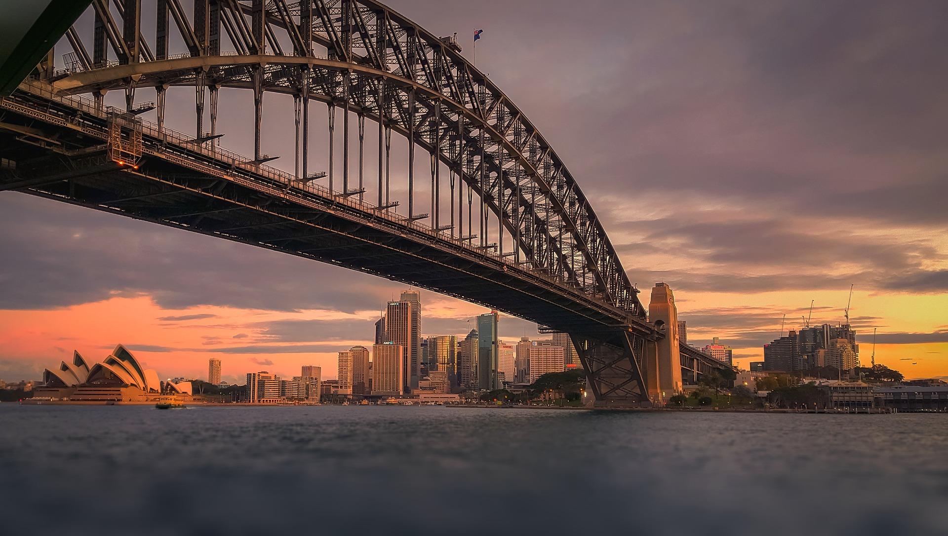 Evening on Sydney Harbour Bridge, Australia