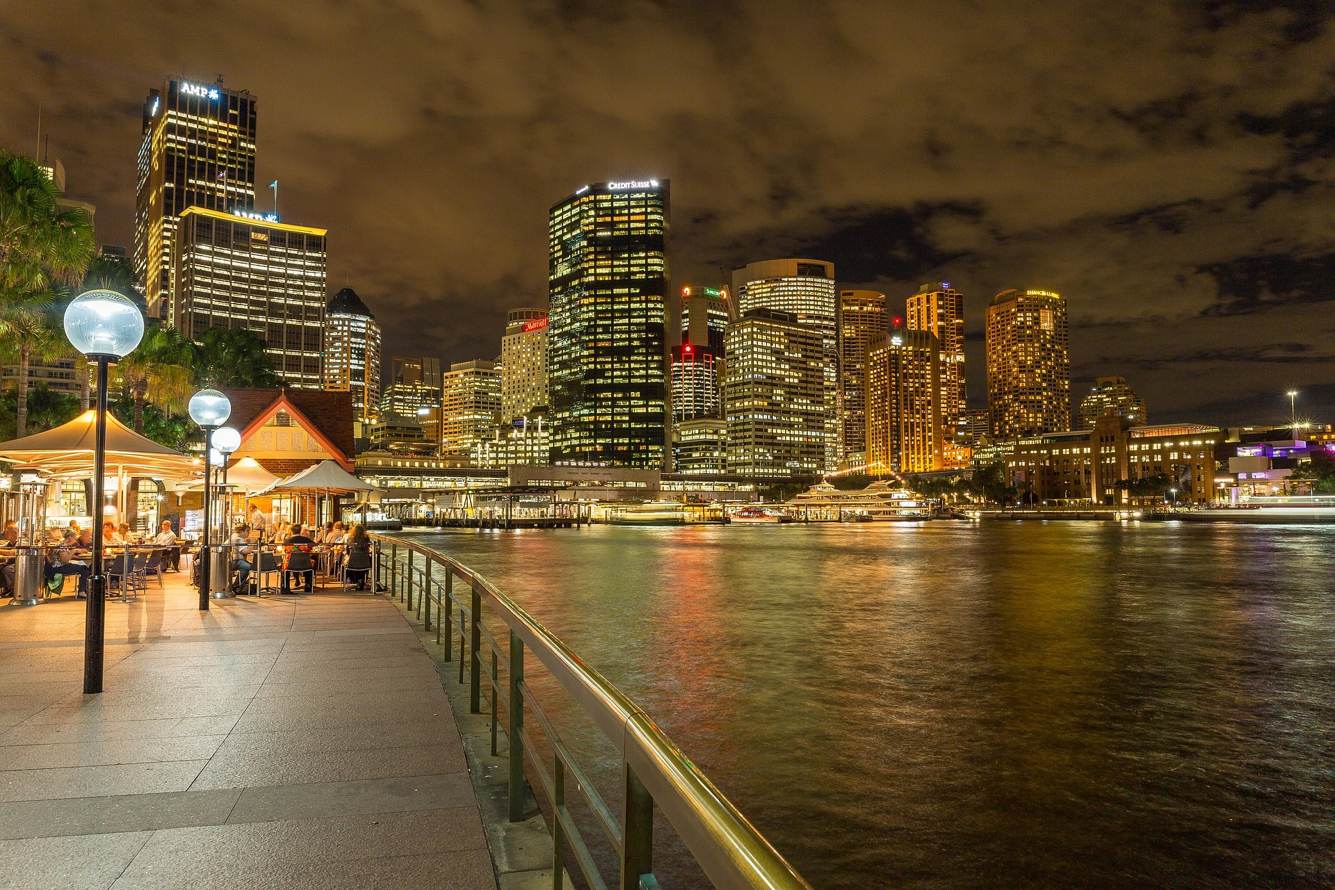 Amazing view at night in Sydney Harbour Bridge, Australia
