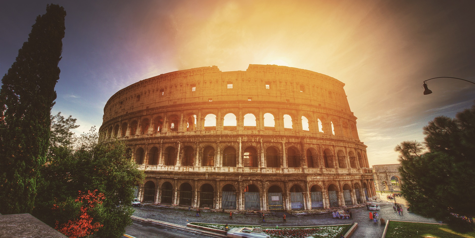 Beautiful Architecture of Colosseum Rome, Italy