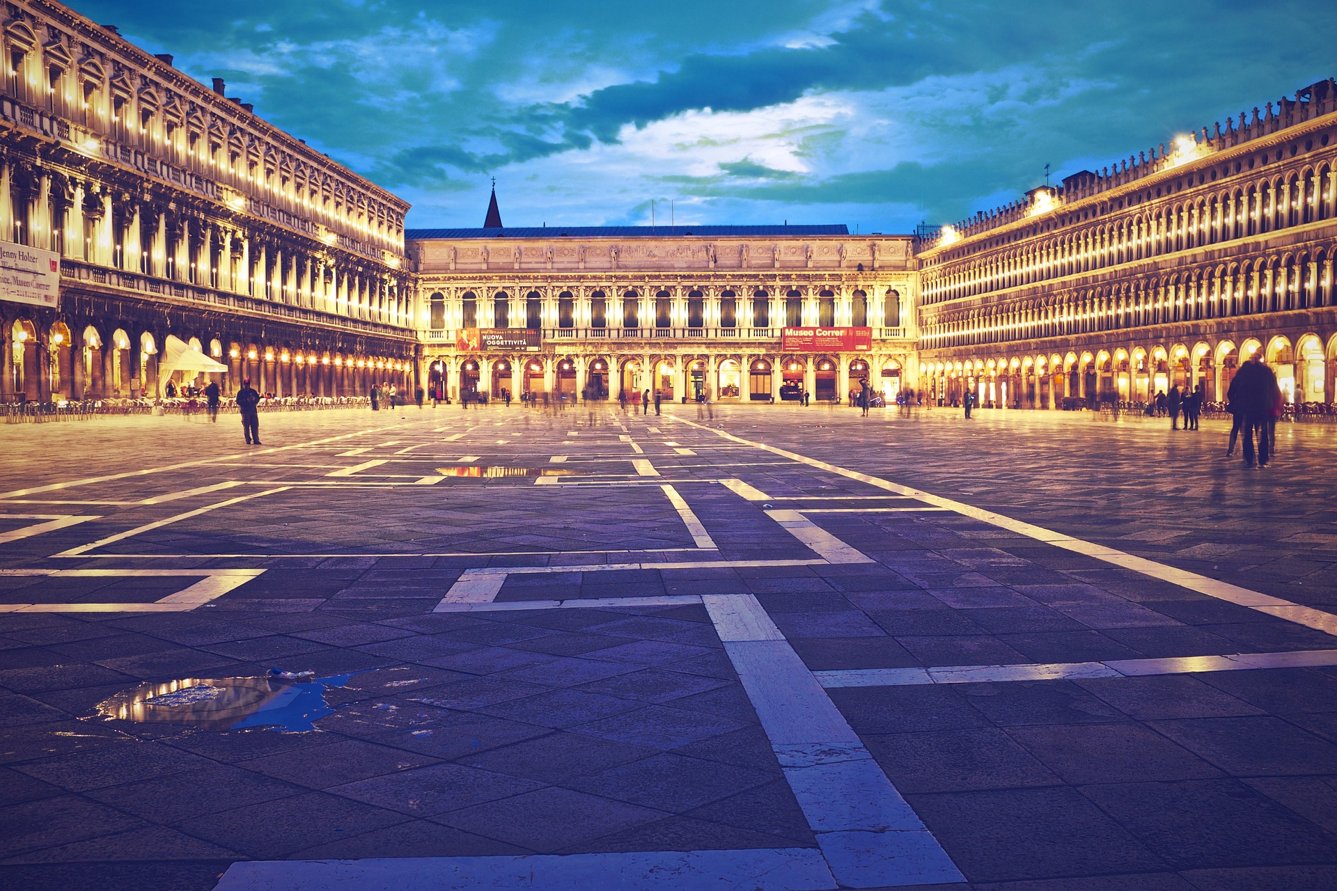 Bright Evening at Piazza San Marco in Venice,Italy