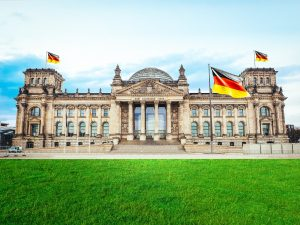 Historic Architecture of Reichstag in Berlin, Germany