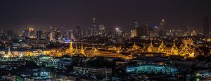 Amazing view on Grand Palace at night, Thailand