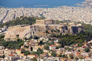 Historic skyview on Acropolis of Athen, Greece