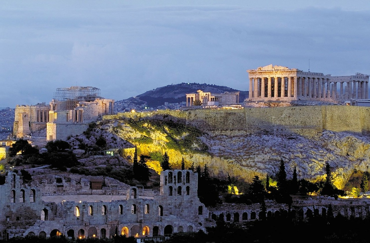 Appealing view on Parthenon in Athen, Greece