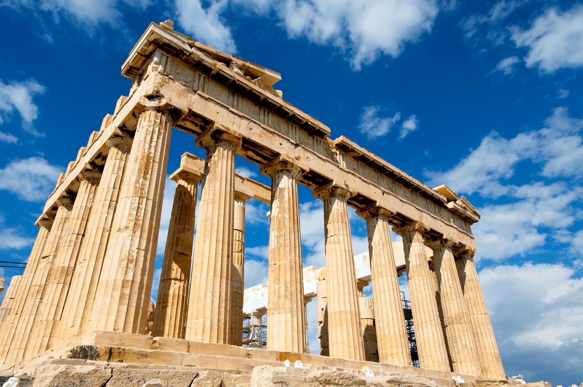Amazing view on Parthenon in Athen, Greece