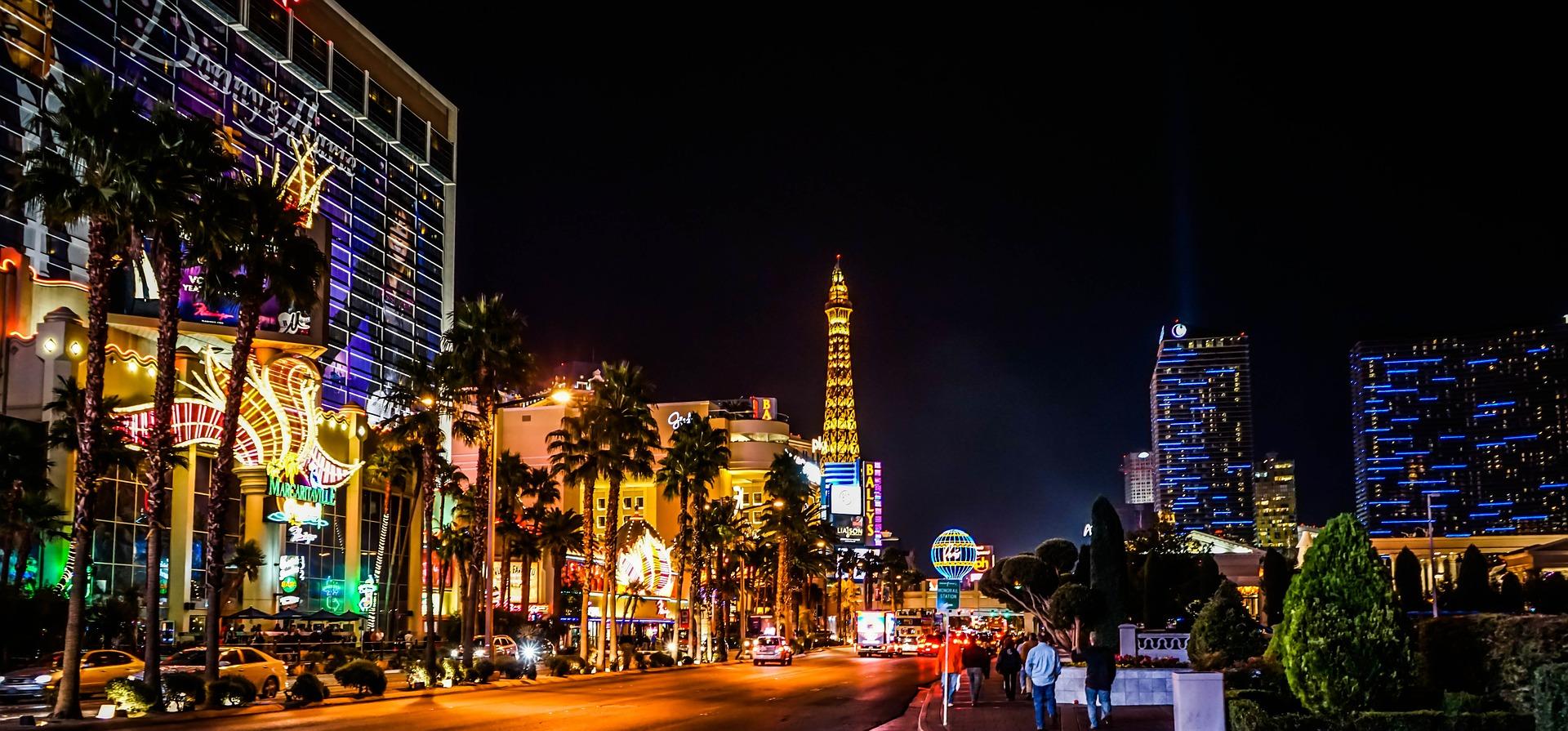 At night in Las Vegas, Nevada