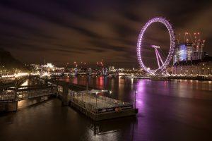 Adorable night at London Eye, United Kingdom