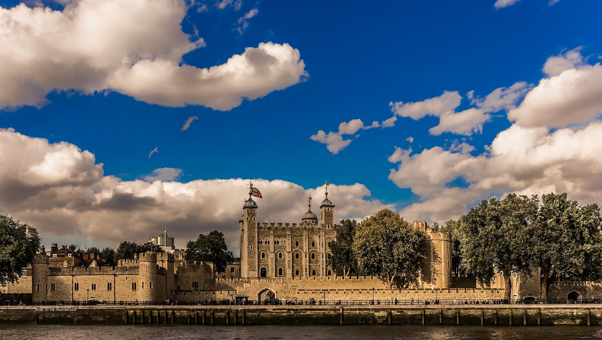 Wonderful summer day at Tower Of London, United Kingdom