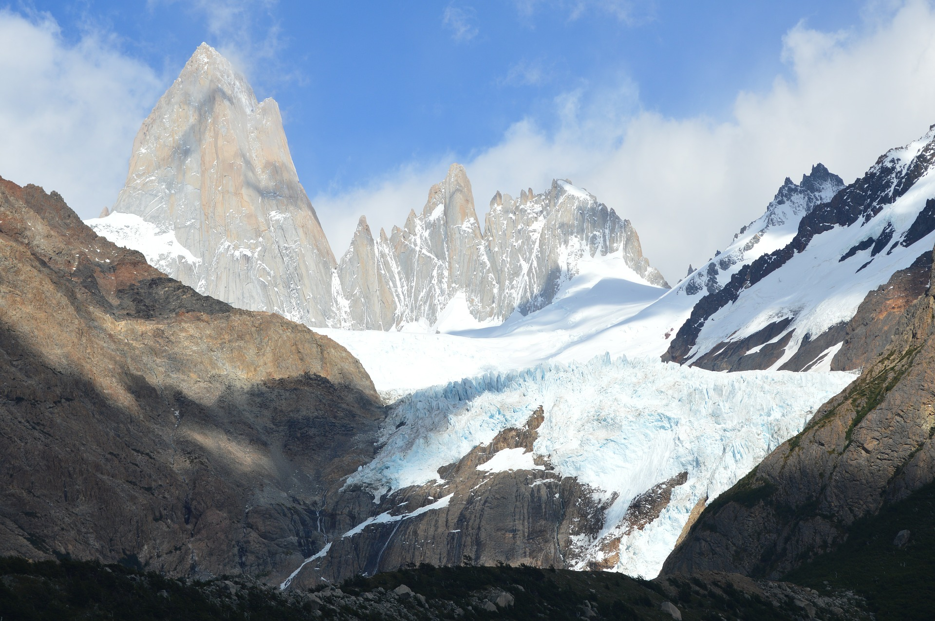 Breaktaking view on Cerro Torre mountain in Southern Patagonian, Argentina
