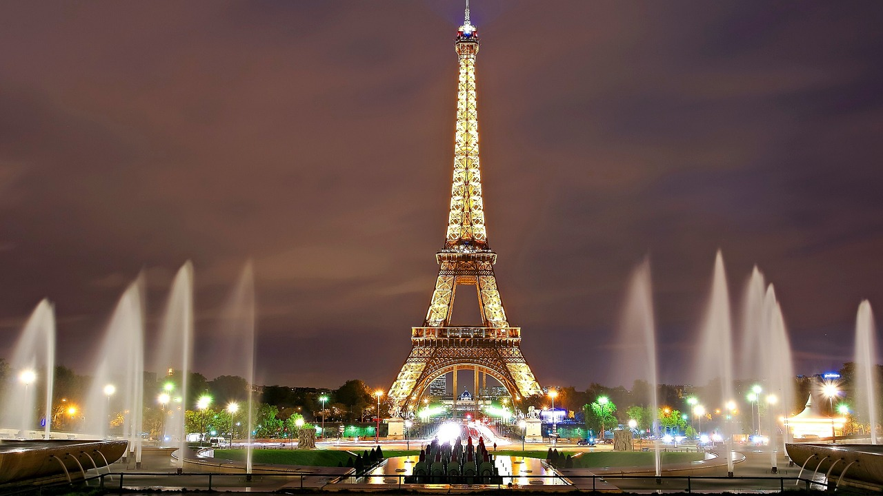 Amazing view on Eiffel Tower in Paris, France
