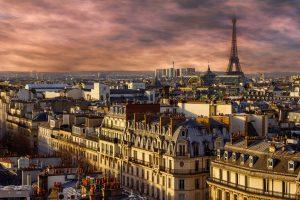 Breathtaking view on Eiffel Tour in Paris, France