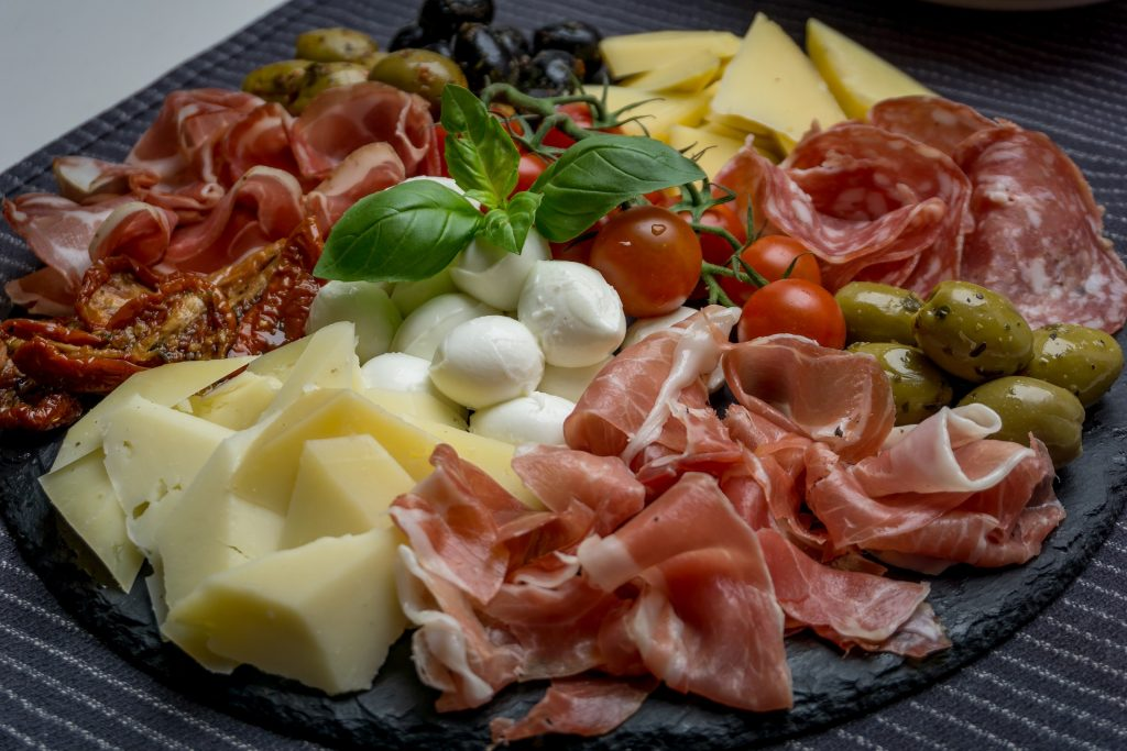 Freshly prepared Antipasto