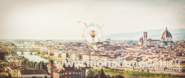 Stunning pictures over Florence in Italy