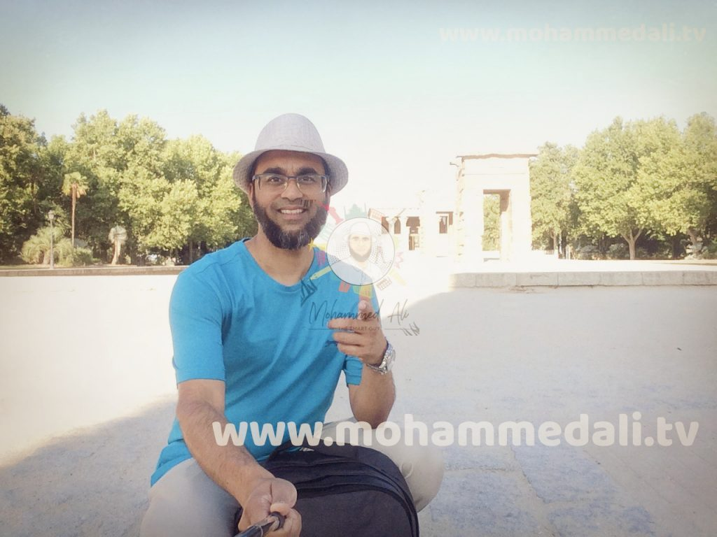 Amazing time while on Temple de Debod in Madrid, Spain