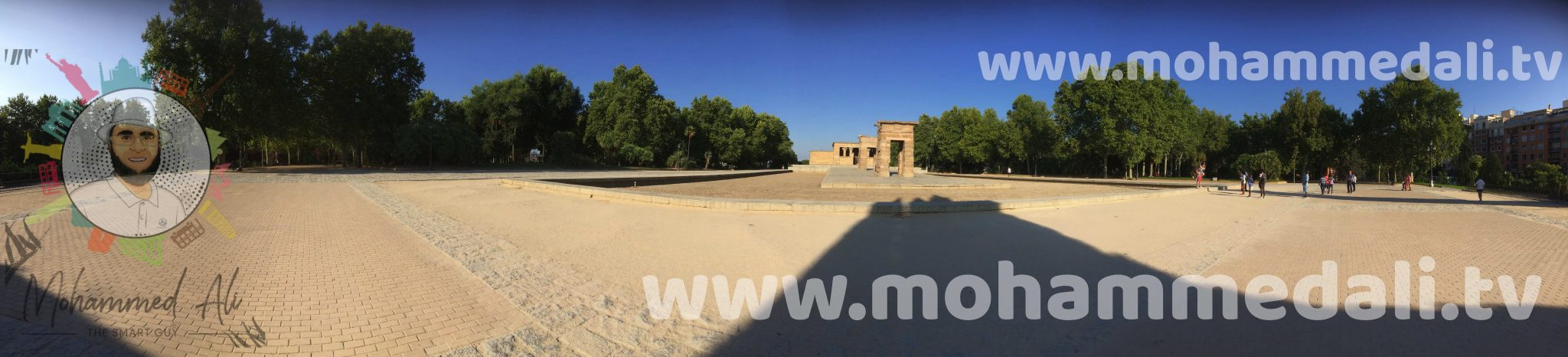 Panoramic view on Temple de Debod
