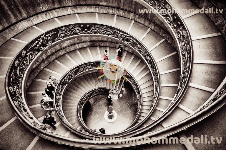 Impressive stair flows in Vatican, Italy