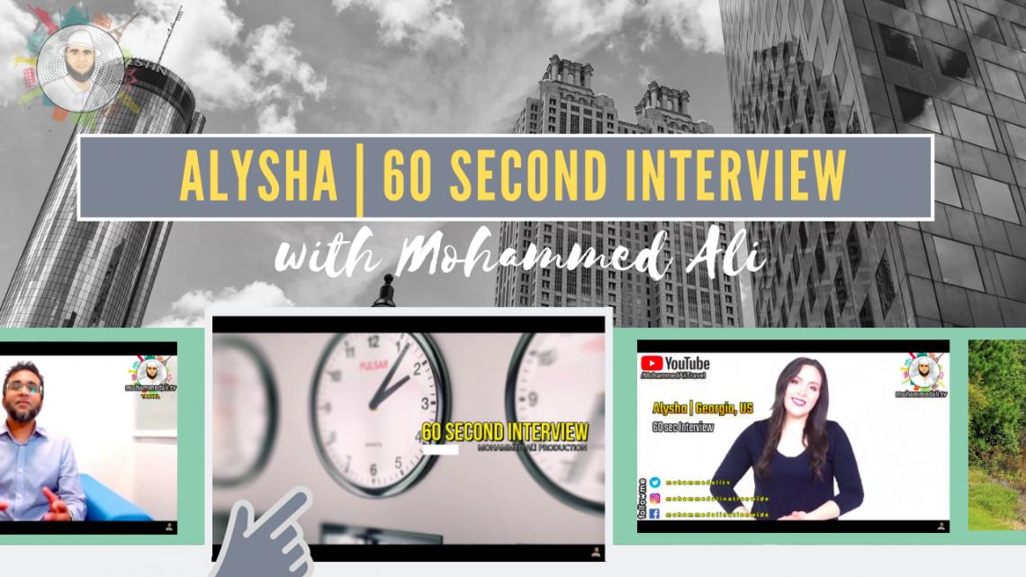 Meet Alysha | 60 second interview
