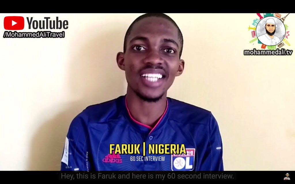 Faruk | 60 second interview | Talk with #MohammedAli