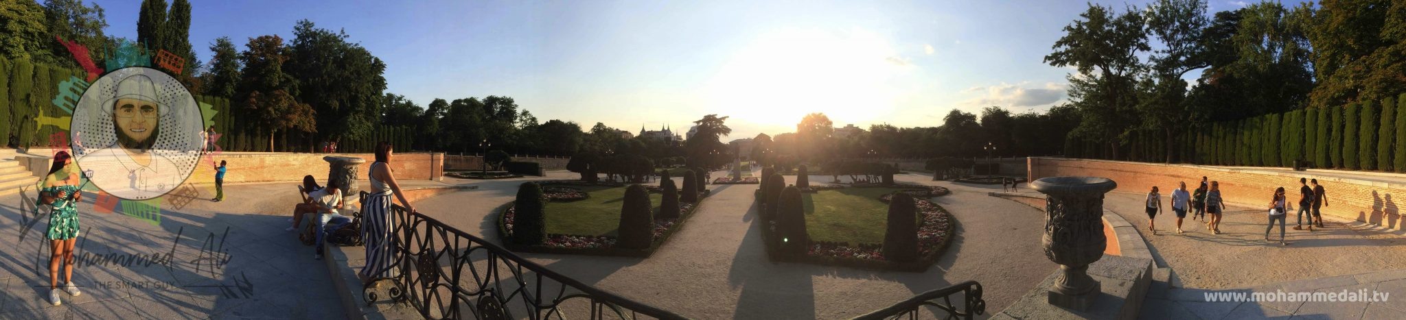 Breathtaking panoramic view over El Retiro Park
