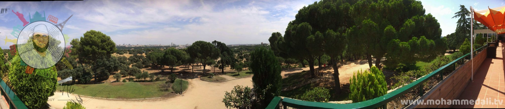Panoramic view over Casa de Campo in Madrid