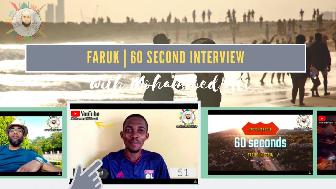 Meet Faruk | 60 second interview