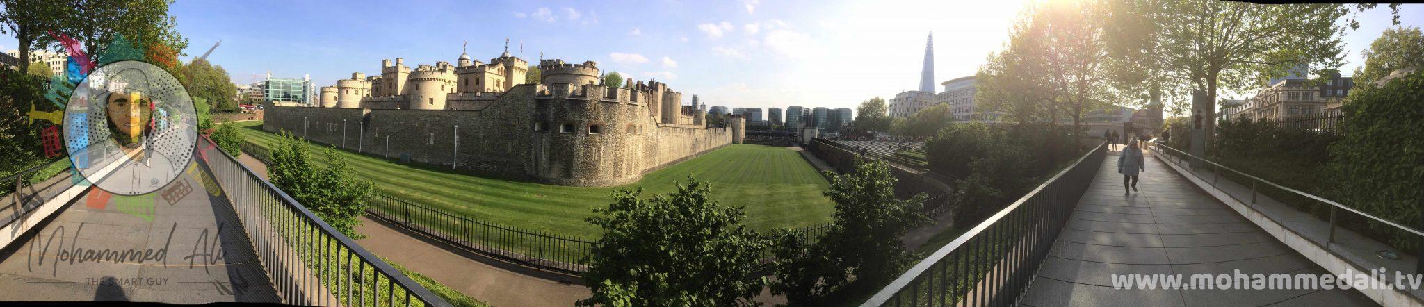 A beautiful walk along the Tower of London near Tower Bridge
