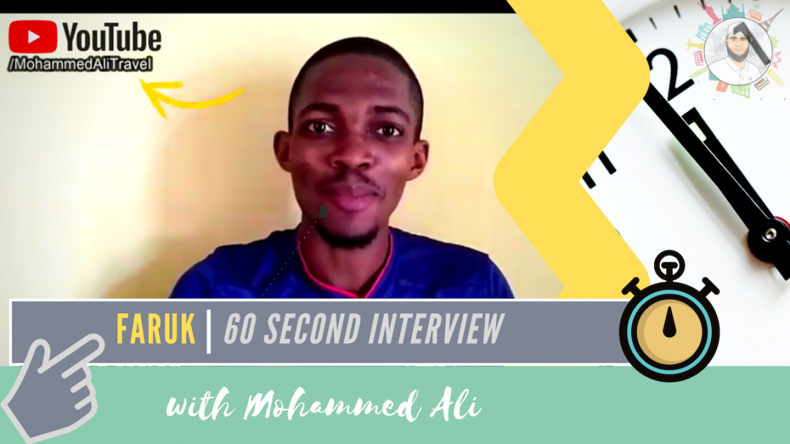 Meet Faruk | 60 second interview