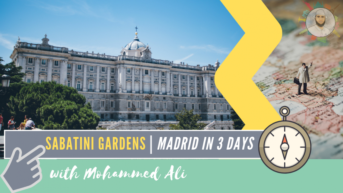 Beautiful Sunset at Sabatini Gardens | Madrid in 3 days