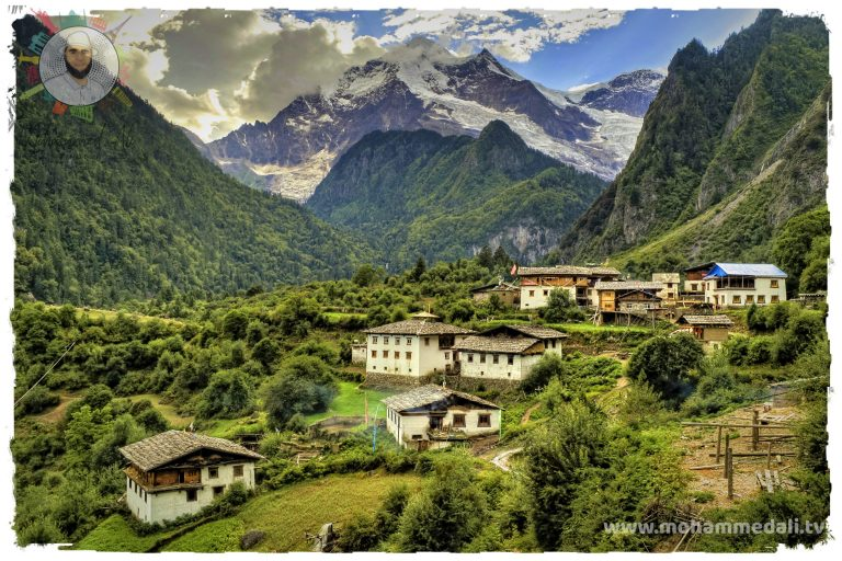 Breathtaking view on a rural area in the Himalayas.
