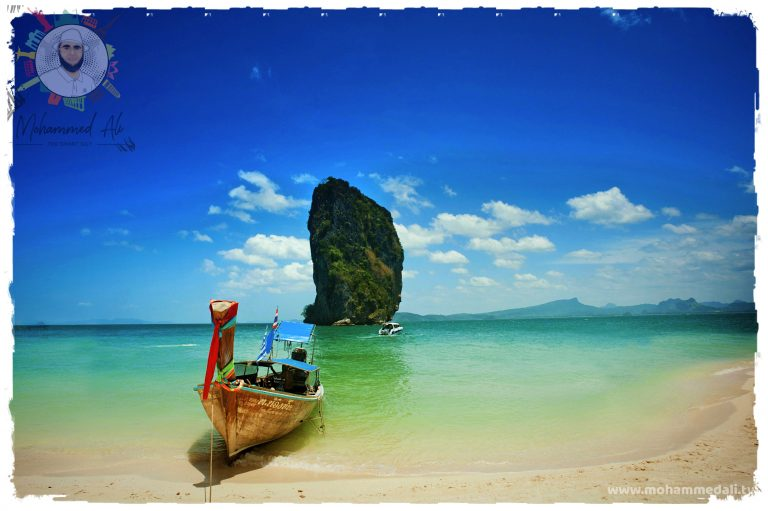 Beautiful trip on a boat in Thailand