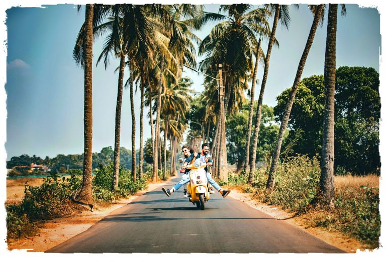 Enjoy the ride together under the Cocunut Palms.