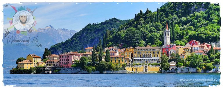 Beautiful summer days in Laka Como in Italy