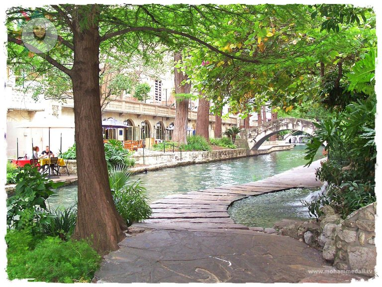 Enjoying the riverwalk in San Antonio, Texas