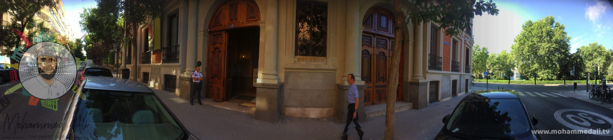 Panoramic view outside of the Cerralbo Museum