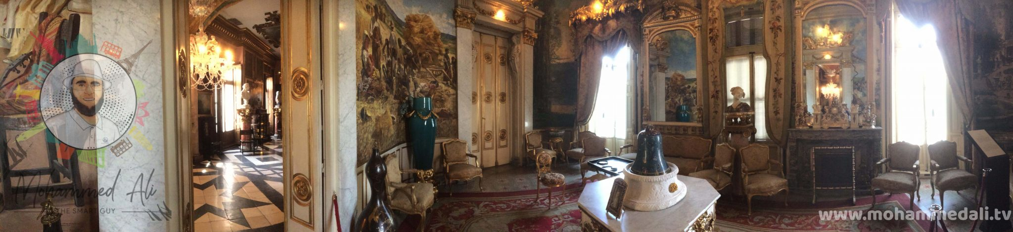 Panoramic view of the Empire Room in Cerralbo Museum