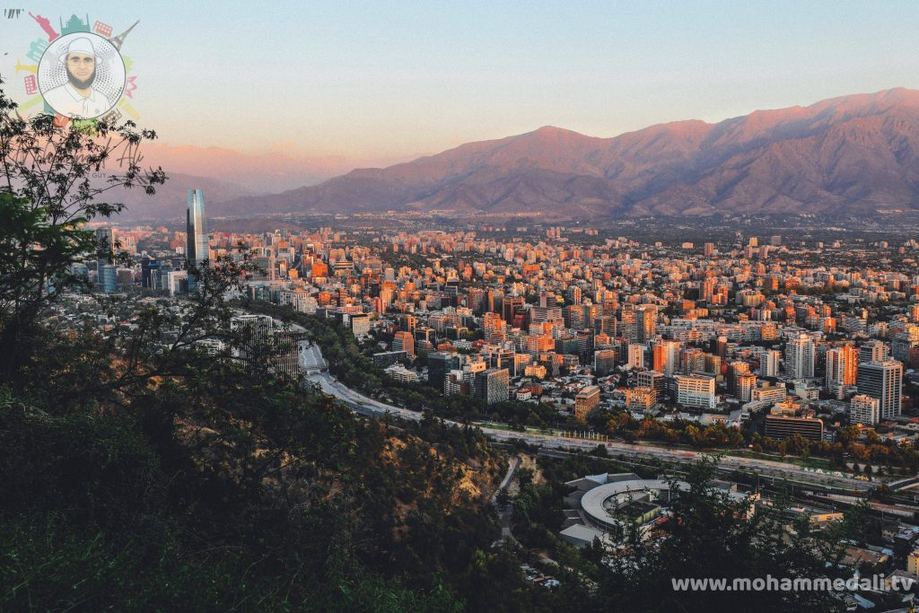 Amazing view over the city of Chile