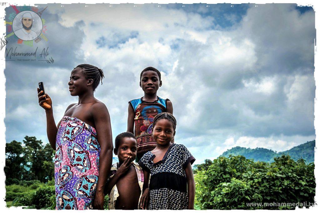Happy family in Nigeria