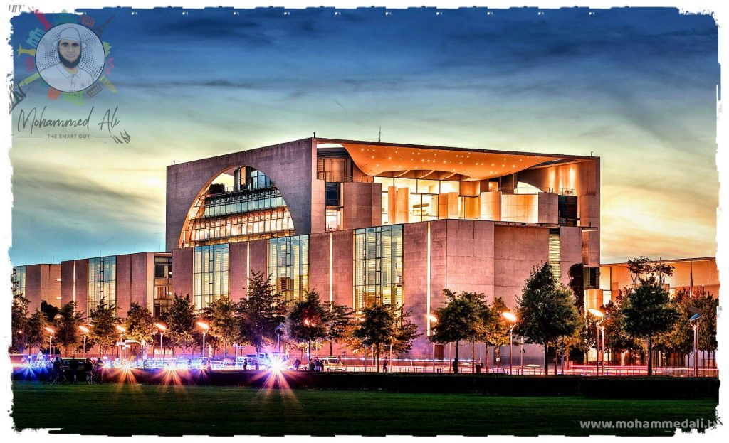 Awesome shot of the federal chancellery in Berlin, Germany