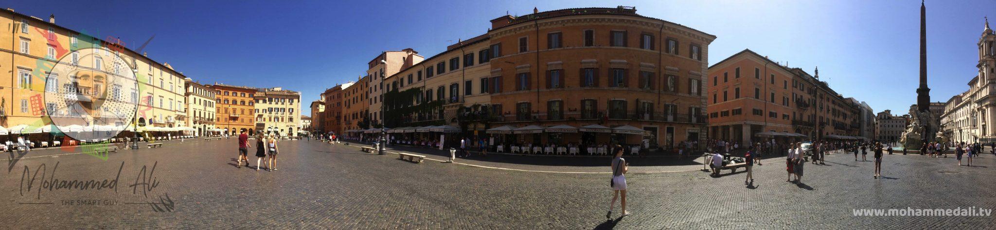Panoramic view of Piazza Navona