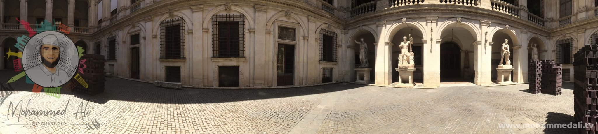 Panoramic view of Palazzo Altempts in Rome