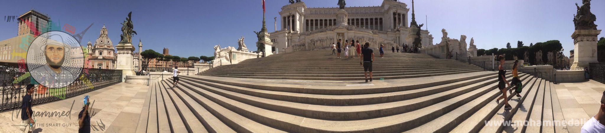 Amazing view onto the Vittorio Emanuele II Monument in Rome