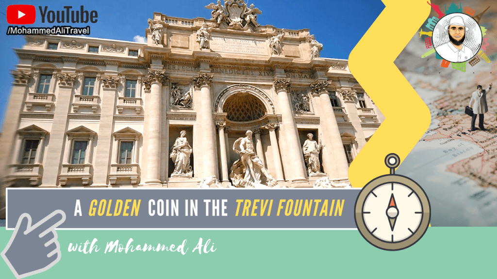 Tossing a coin in the famous Trevi Fountain - Best of Rome | Italy Tour |