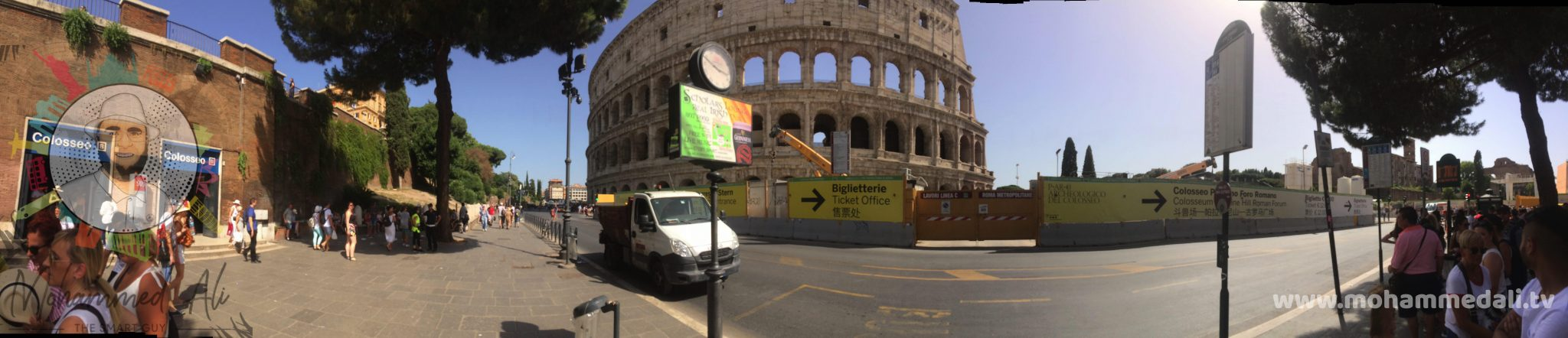 Panoramic view of the iconic Colosseum in Rome, Italy