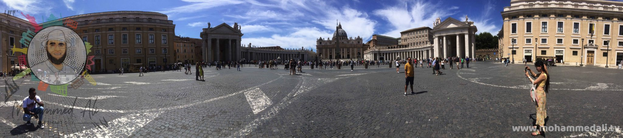 Awesome panoramic view on the St. Peter's Basilica in Vatican City