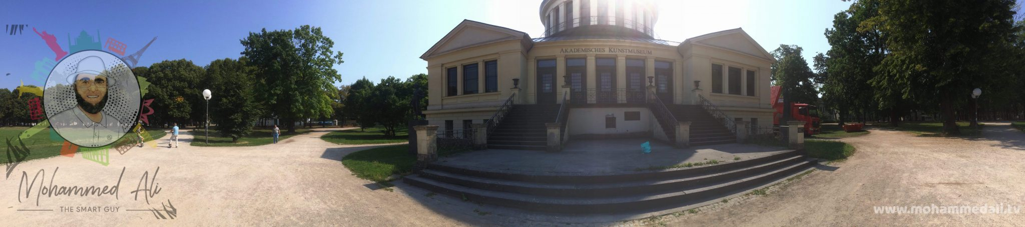 Panoramic view of the academic art museum in Bonn, Germany